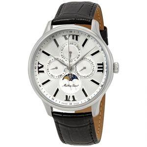 Edmond Moon Leather Silver Dial Watch H1886RAI